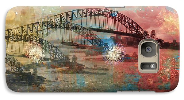 Galaxy Case featuring the photograph Harbour In Abstraction by Leanne Seymour