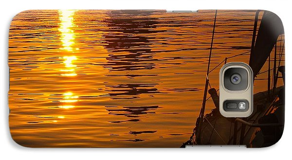 Galaxy Case featuring the photograph Harbour Sunset by Clare Bevan