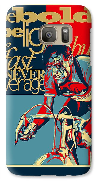 Fairy Galaxy S7 Case - Hard As Nails Vintage Cycling Poster by Sassan Filsoof