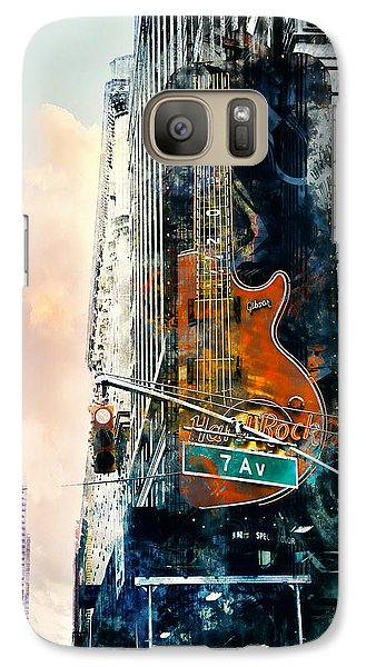 Galaxy Case featuring the photograph Hard Rock And 7th Ave. by John Rivera