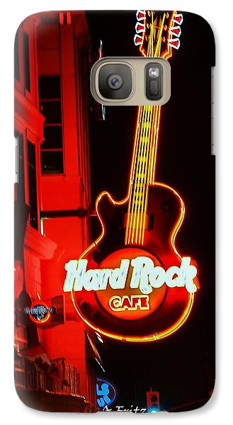 Galaxy Case featuring the photograph Hard Rock Cafe' by Al Fritz