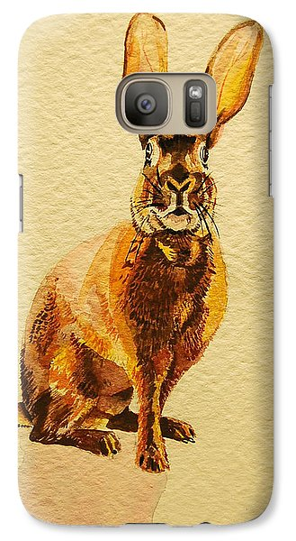 Galaxy Case featuring the painting Hare by Pattie Wall