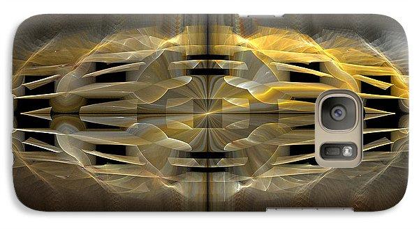 Galaxy Case featuring the digital art Harlequin Ruff by Linda Whiteside