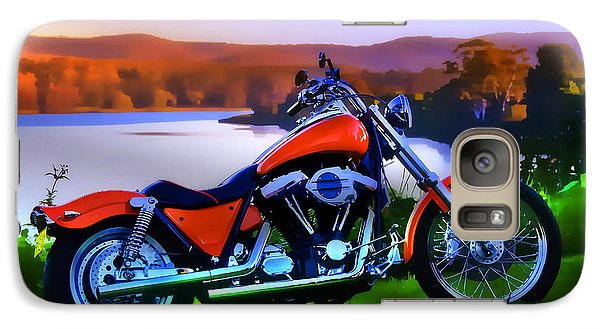 Galaxy Case featuring the photograph Harley Art 01 by Kevin Chippindall