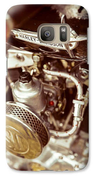 Galaxy Case featuring the photograph Harley Davidson Closeup by Carsten Reisinger