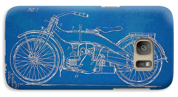 Harley-davidson Motorcycle 1924 Patent Artwork Galaxy S7 Case