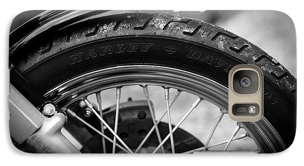 Galaxy Case featuring the photograph Harley Davidson Tire by Carsten Reisinger