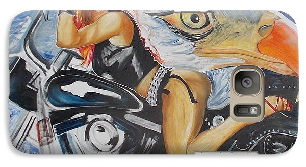 Galaxy Case featuring the painting Harley Girl by PainterArtist FIN