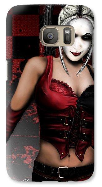 Galaxy Case featuring the digital art Harley Quinn by Jeremy Martinson