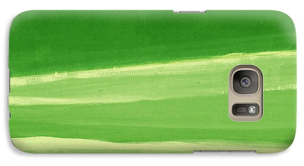 Harmony In Green Galaxy S7 Case by Linda Woods
