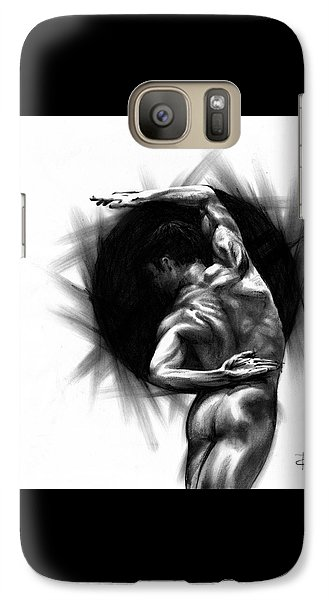 Galaxy Case featuring the drawing Harmony by Paul Davenport