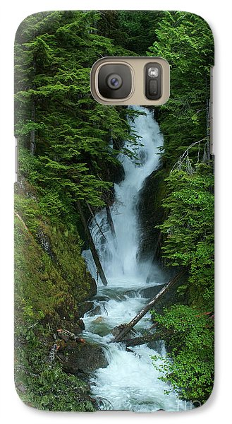Galaxy Case featuring the photograph Harrison Lake Road Falls by Rod Wiens