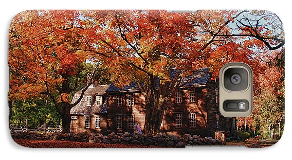 Galaxy Case featuring the photograph Hartwell Tavern Under Canopy Of Fall Foliage by Jeff Folger
