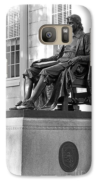 John Harvard Statue At Harvard University Galaxy Case by University Icons
