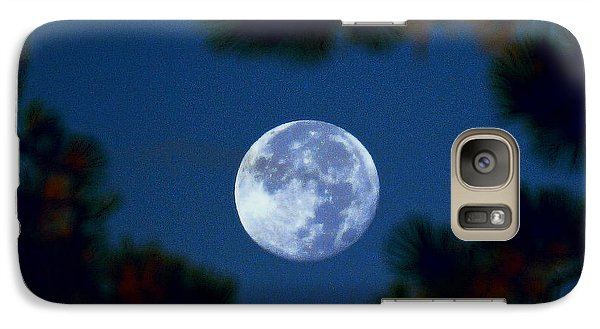 Galaxy Case featuring the photograph Harvest Moon Color 2013-10-20 by Jeremy McKay