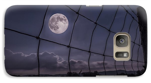Galaxy Case featuring the photograph Harvest Moon by Jaki Miller
