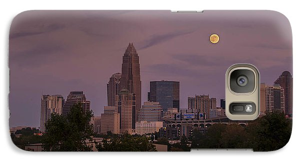 Galaxy Case featuring the photograph Harvest Moon Over Charlotte by Serge Skiba