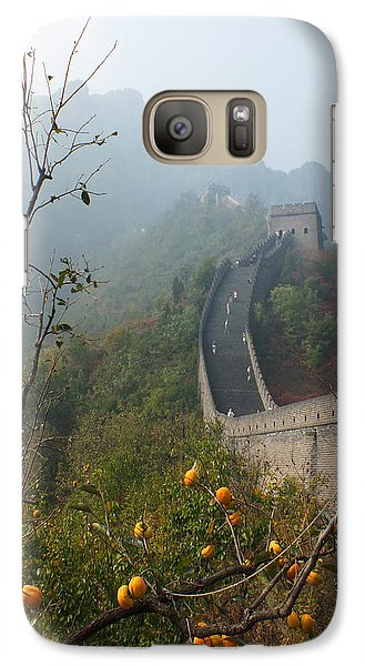 Galaxy Case featuring the photograph Harvest Time At The Great Wall Of China by Lucinda Walter