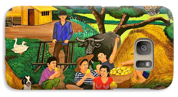 Galaxy Case featuring the painting Harvest Time by Lorna Maza
