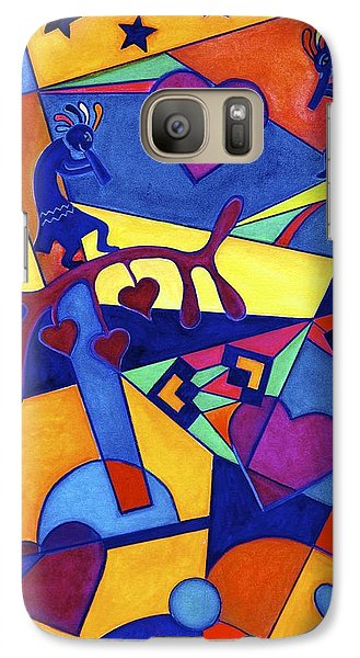 Galaxy Case featuring the painting Harvesting The Love Kokopelli Art  by Lori Miller