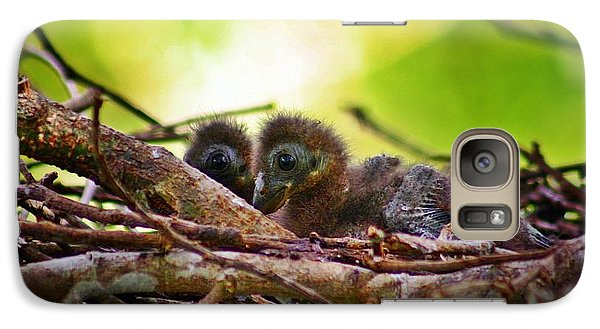 Galaxy Case featuring the photograph Hoatzin Hatchlings In The Amazon by Henry Kowalski