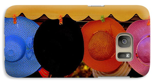 Galaxy Case featuring the photograph Hats Of Many Colors by Caroline Stella