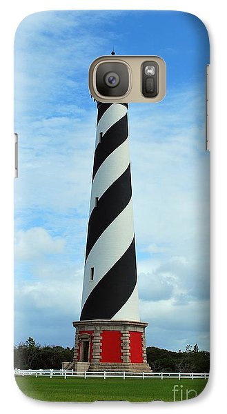 Galaxy Case featuring the photograph Hatteras Lighthouse by Bob Sample