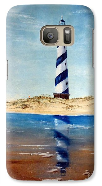 Galaxy Case featuring the painting Hatteras Lighthouse by Lee Piper