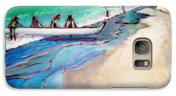 Galaxy Case featuring the painting Haul Canoe by Angela Treat Lyon