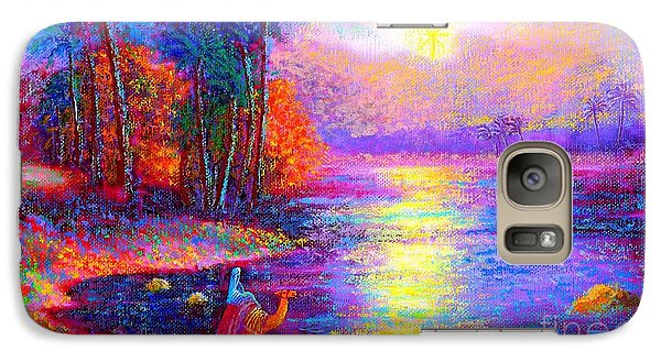 Galaxy Case featuring the painting Haunting Star by Jane Small
