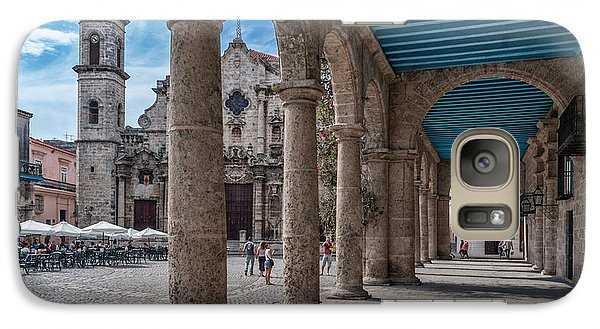 Havana Cathedral And Porches. Cuba Galaxy S7 Case
