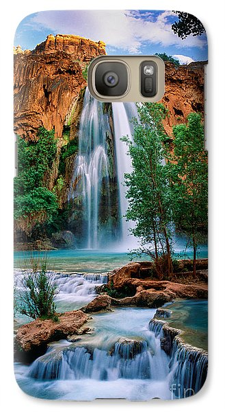 Colours Galaxy S7 Case - Havasu Cascades by Inge Johnsson