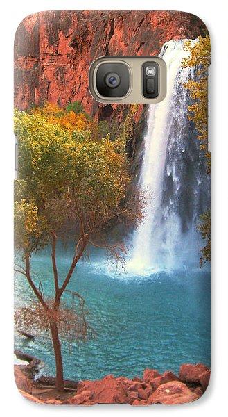 Galaxy Case featuring the photograph Havasu Falls by Alan Socolik