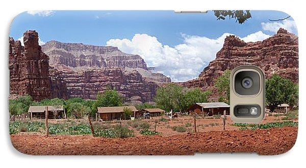 Galaxy Case featuring the photograph Havasupai Village Panorama by Alan Socolik