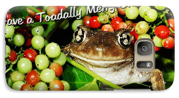 Galaxy Case featuring the photograph Have A Toadally Merry Christmas by Lynda Dawson-Youngclaus