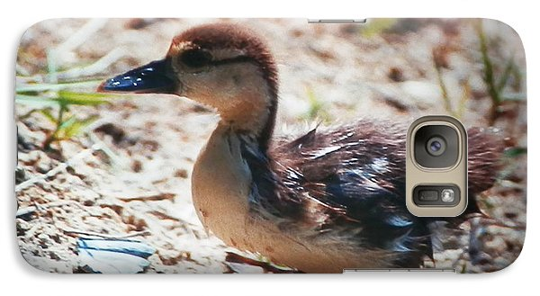 Galaxy Case featuring the photograph Lost Baby Duckling by Belinda Lee