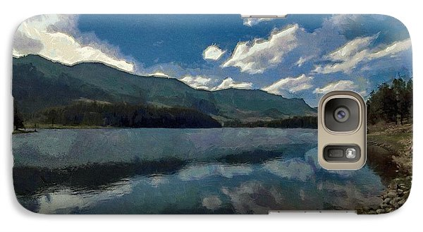 Galaxy Case featuring the painting Haviland Lake by Jeff Kolker