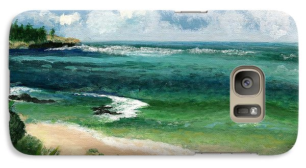 Galaxy Case featuring the painting Hawaii Beach by Jamie Frier