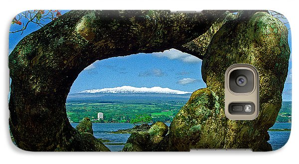 Galaxy Case featuring the photograph Hawaii Snow by Randy Sylvia