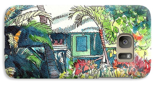Galaxy Case featuring the painting Hawaiian Cottage 3 by Marionette Taboniar