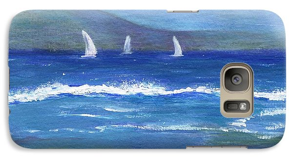 Galaxy Case featuring the painting Hawaiian Sail by Jamie Frier