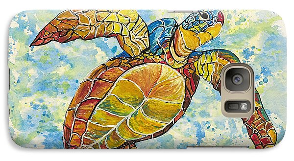 Galaxy Case featuring the painting Hawaiian Sea Turtle 2 by Darice Machel McGuire
