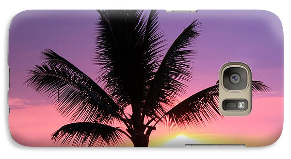Galaxy Case featuring the photograph Hawaiian Sunset And Palm by Karen Nicholson