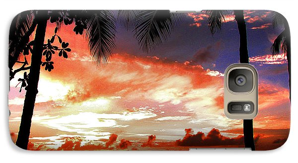 Galaxy Case featuring the photograph Hawaiian Sunset by Kristine Merc