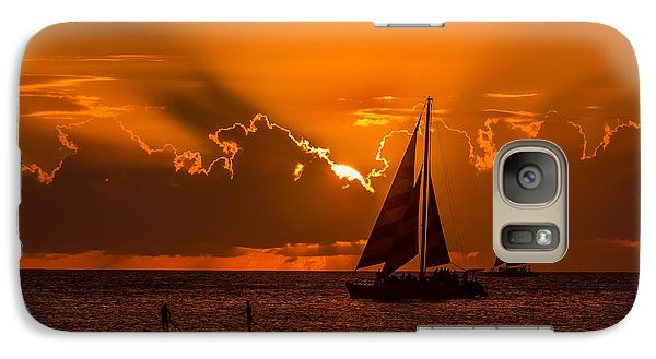 Galaxy Case featuring the photograph Hawaiian Sunset by RC Pics