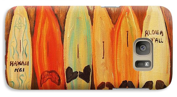 Galaxy Case featuring the painting Hawaiian Surfboards by Janet McDonald