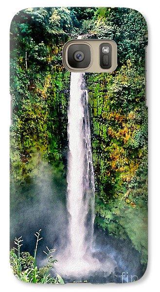 Galaxy Case featuring the photograph Hawaiian Waterfall by Adam Olsen