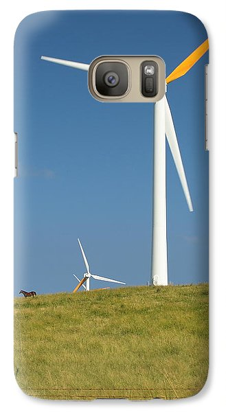 Galaxy Case featuring the photograph Hawi Wind Farm  by Scott Rackers