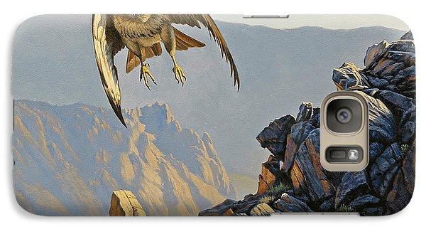 Hawk Galaxy S7 Case - Hawk Above Beartooth Pass by Paul Krapf
