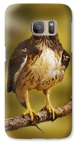 Galaxy Case featuring the photograph Hawk  by Brian Cross